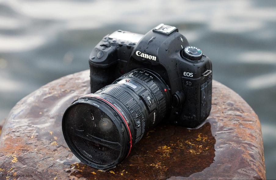 утопленый фотоаппарат