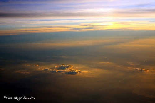 фото с борта самолета