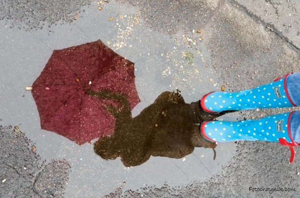 под дождем фото