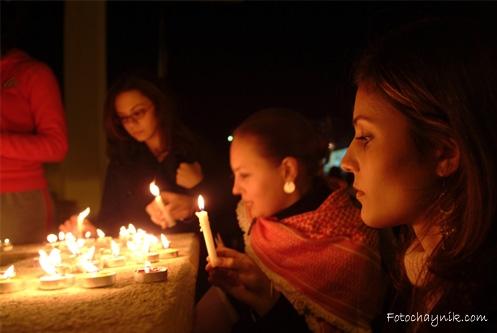портрет при свечах