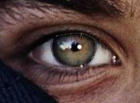 выделение глаза в Фотошоп