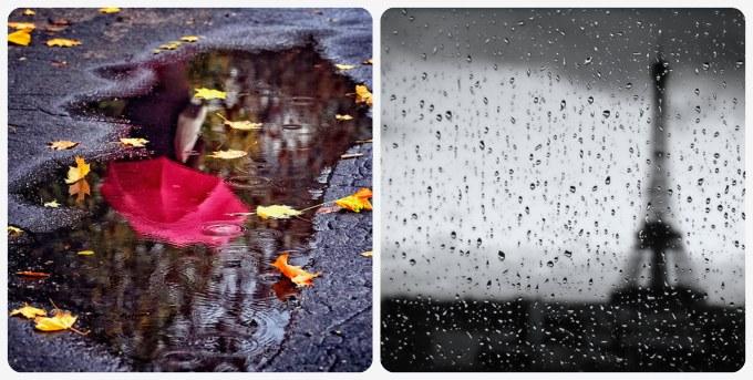 фотографируем дождь за окном