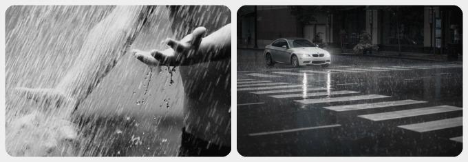 фото дождя в черно-белых тонах