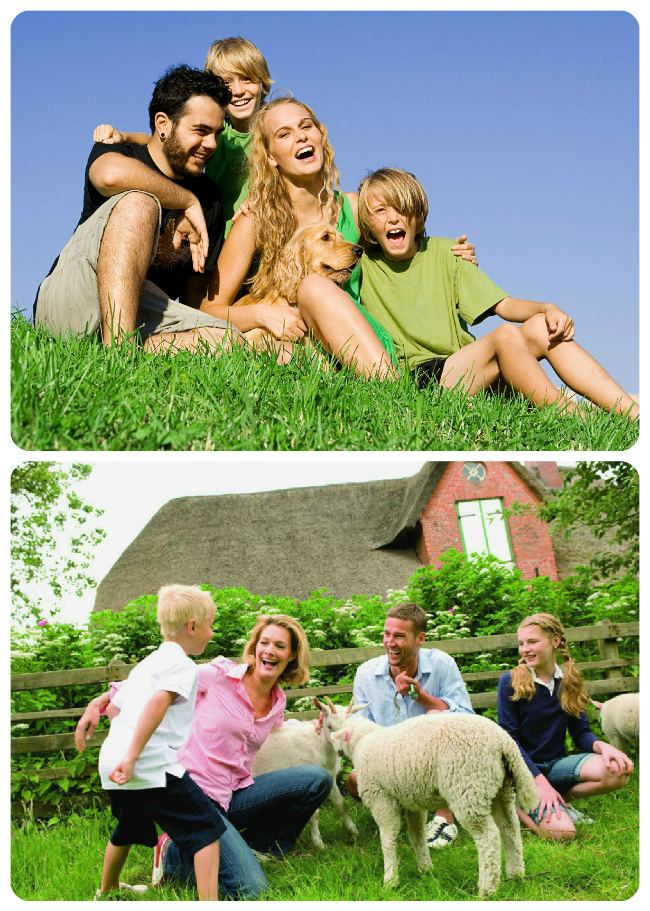 Идея семейной фотосессии с животными