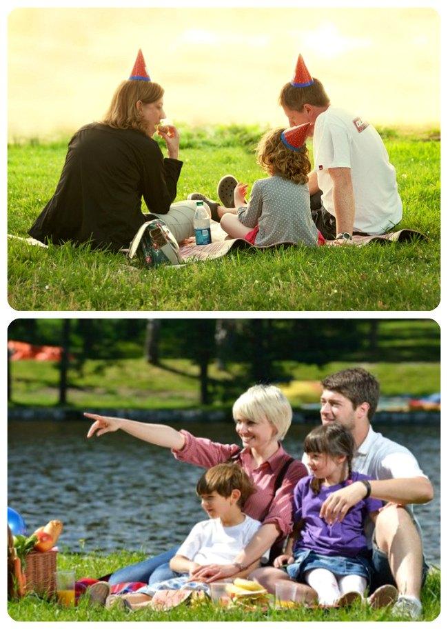 Идея семейной фотосессии: Пикник