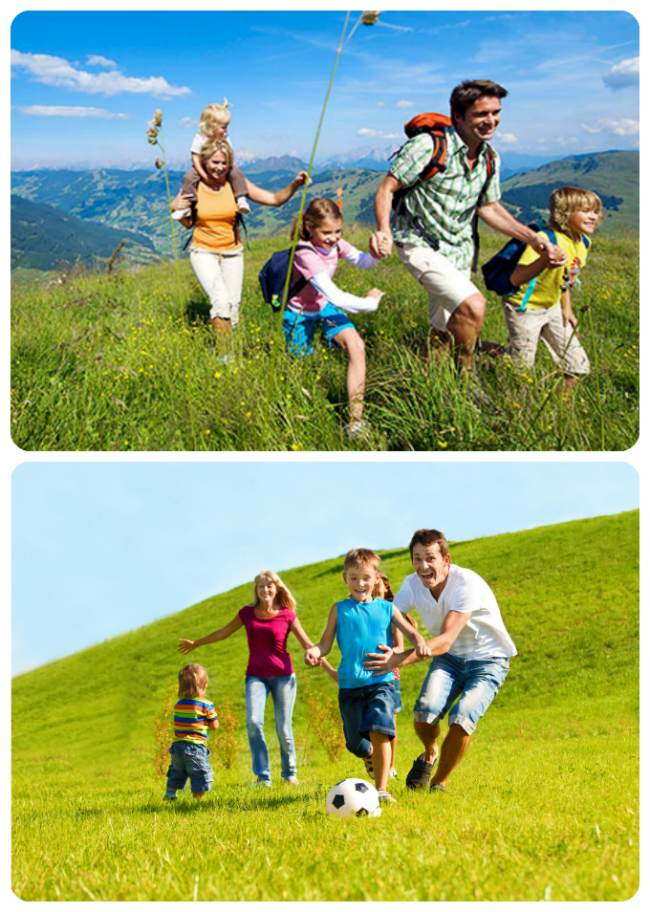 спортивная фотосессия для семьи