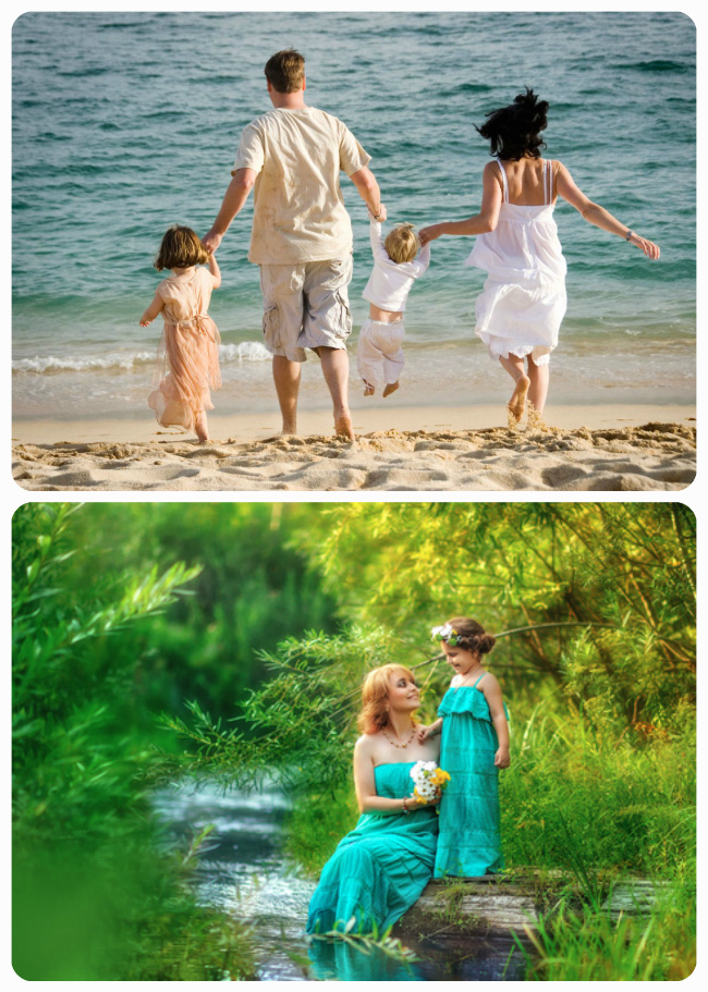 семейная фотосессия у воды