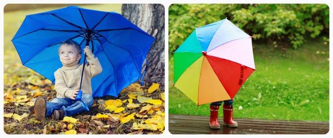 Идеи фотосессии для ребенка с зонтом