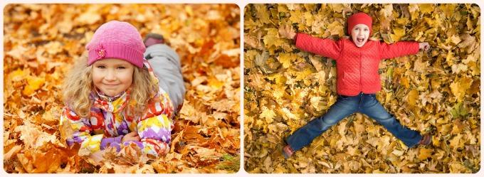 фотосессия для ребёнка с осенними листьями идеи