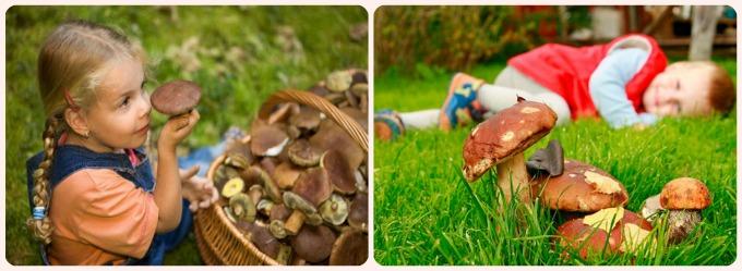 детские фотографии с грибами осенью