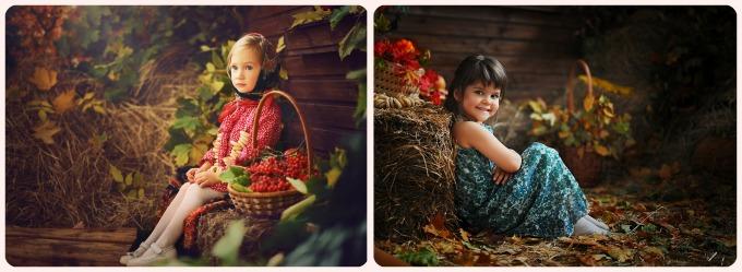 идеи осенних фотографий ребёнка